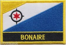 Netherlands Bonaire Flag Embroidered Patch Badge - Sew or Iron on