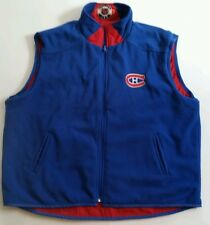 VINTAGE MONTREAL CANADIENS NHL RED & BLUE REVERSIBLE VEST JACKET SZ XL