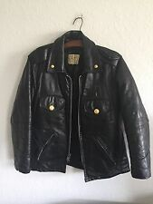 Vtg Taylor's Uniforms 60's CHICAGO POLICE Motorcycle Leather Jacket Black sz 42