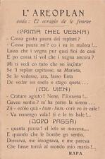 "A8893) WW1, ""L'AEROPLAN"", POESIA IN DIALETTO VENETO."
