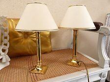 Lot de 2  LAMPES Style déco chic sobre Laiton bronze abat jour crême ALPHA TRADI
