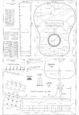 martin D28 style acoustic Guitar Plans -  full scale - detailed technical