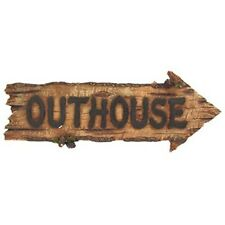 Rustic Outhouse Arrow Wall Plaque Wood Style Sign. Western-themed home, Mancave