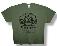 Five Finger Death Punch-Righteous Side-2X  Military Green T-shirt