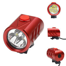 6000LM 3 x Led Fahrradlampe Fahrradbeleuchtung CREE XML Kopflampe Stirnlampe ROT