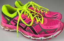 Asics Gel-Kayano 21 Lite Show Running Shoes Pink Yellow T4N5N Women's Size 8