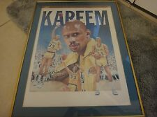 Limited edition (24 of 100) poster signed by Kareem Abdul Jabbar