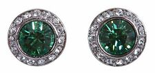Swarovski Elements Crystal Round Angelic Pierced Earrings Rhodium Plated 7188y