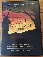 THE LAST OF THE MOHICANS 2 DVDs BBC LIKE NEW James Fenimore Cooper OOP 2007