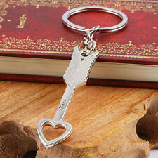 Romantic Heart Arrow Wedding Couple Keychain Love Heart Key Chain Keyfob F5