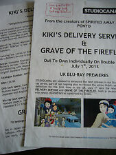 KIKI'S DELIVERY SERVICE + GRAVE.. STUDIO GHIBLI MIYAZAKI BLURAY PRESS RELEASES