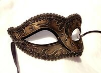 Venetian Classic half face Masquerade Mask Black Silver Gold Costume Prom Party