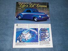 "1941 Willys Coupe Street Rod Article ""Life's Lil' Lesson"""