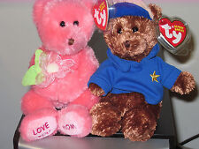 Ty Beanie Baby Set ~ DEAR DAD & MOM the Bears ~ Hallmark Exclusives ~  MWMT'S