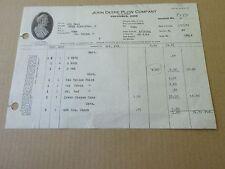 1944 John Deere Plow Company, Company Invoice