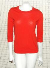 J. CREW~ORANGE~3/4 SLEEVES~100% MERINO WOOL **FITTED KNIT SWEATER TOP** BLOUSE~S