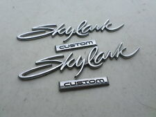 "95-99 Buick "" Skylark Custom "" Side Door Chrome Emblem Logo Decorative Decal Set"