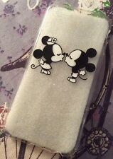 iPhone 6 6s Mobile Phone Soft Silicon Case Minnie Mickey Disney Kiss Clear Xmas