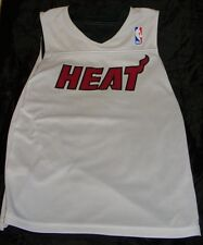 MIAMI HEAT HOME/AWAY JERSEY MEDIUM #3 BLANK REVERSIBLE MESH WHITE/BLACK TEAM NBA