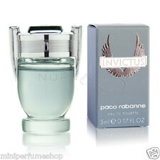 Mini perfume Paco Rabanne Invictus Edt 5 ml. 0.17 oz New!!