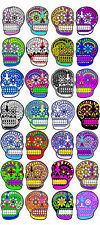 Day of the Dead Halloween 28 sugar skull stickers scrapbooking crafts