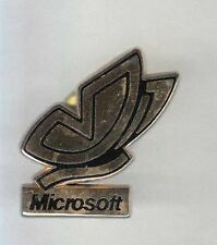 RARE PINS PIN'S .. INFORMATIQUE PC LOGICIEL MICROSOFT A.B OR PAPILLON FRANCE ~A9