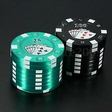 3 Layers Poker Pattern Metal Alloy Hand Muller Herb Tobacco Grinder Crusher