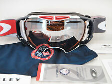 New Oakley Airbrake Snow Goggles Team USA Olympic Edit Black Irid Case #59-281