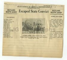 Wanted Notice - Alfred Kirby/Escaped Convict - Jacksonville, FL - $25 Reward