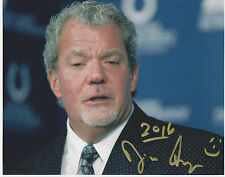 Jim Irsay signed 8x10 color phoot-Indianapolis Colts owner