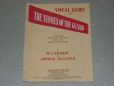 "Vocal gemas de ""la yeomen de la guardia"" Partituras"