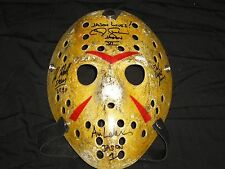 4X Signed Jason Voorhees Signed MASK Kane Hodder Ted White CJ Graham Ari lehman