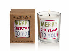 Stoneglow Merry Christmas to You Glass Votive Candle - Boxed Candle