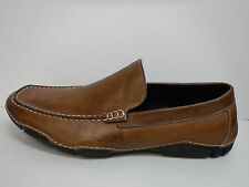 Kenneth Cole Reaction Size 8 Brown Leather Loafers New Mens Shoes