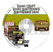 Radio Craft, Radio Electronics, And Electronics Now Magazine in pdf on dvd