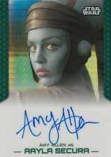 STAR WARS CHROME PERSPECTIVES JEDI VS SITH AMY ALLEN AAYLA SECURA AUTOGRAPH /50