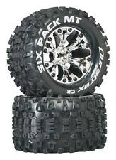 "DuraTrax DTXC3523 Six Pack 2.8"" Mounted Tires / Wheels  1/2"" Offset Savage Flux"