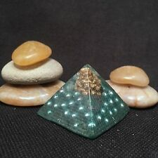 Orgonite Mini Pineal Pyramid-Crystal Healing Energy Device-Green Pine Cone-268