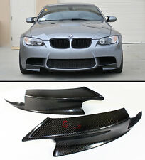 BLK CARBON FIBER FRONT SPLITTER BUMPER SPOILER LIP FOR 07-12 BMW E90 E92 E93 M3