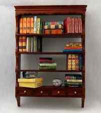 MINIATURE SMALL WALNUT BOOK SHELF 1:12 Scale Furniture Dollhouse Bookshelf #4