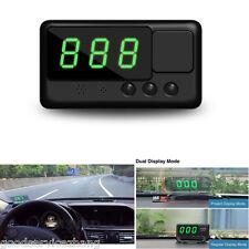 Universal Digital GPS Speedometer Car HUD GPS Overspeed Warning 2 models Used