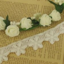 Flower 5 Petal IVORY Guipure Cotton Lace Trim Vintage Inspired 25mm wide 1m LC38