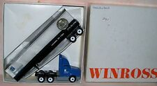 1991 Hamilton Bank Winross Diecast Flat Bed Clear Freight Delivery Trailer Truck
