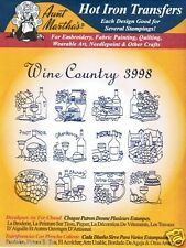 Wine Country #3998 Aunt Martha's Hot Iron Embroidery Transfer Pattern