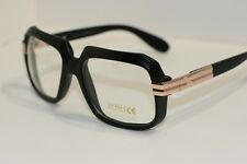 Black Gold Gazelle Run Dmc Nerd Sun-Glasses Rapper DJ square clear lens