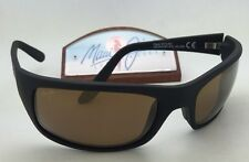 Polarized MAUI JIM Sunglasses PEAHI MJ 202-2M Matte Black Frame w/ HCL Bronze