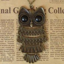 New Fashion Punk Retro Vintage Pendant Bronze Owl Necklace Jewelry Long Chain