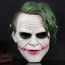 DC Joker Movie Batman The Dark Knight Clown Scary Mask Resin Halloween Party