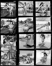 8x10 Print Sexy Model Pin Up Bettie Page Proof Sheet 1955 #BP344