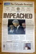 2 1998 newspapers PRESIDENT CLINTON IMPEACHED  ACQUITTED Monica Lewinsky scandal